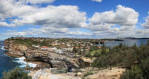 Watsons Bay, New South Wales - View of (The Gap), Watsons Bay, looking south