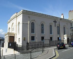 St Leonard's Baptist Church, St Leonards-on-Sea - Joint services are held with Wellington Square Baptist Church in central Hastings.