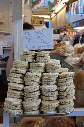Cuisine of Gower - Welsh cakes on sale at Swansea Market
