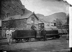 Welsh Pony locomotive engine, Ffestiniog railway NLW3363953.jpg