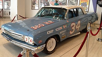 Wendell Scott - A 1962 Chevrolet built by Scott for the movie Greased Lightning on display at the NASCAR Hall of Fame