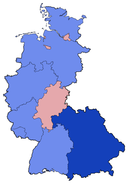 File:West German Federal Election - Party list vote results by state - 1961 & 1965.png
