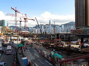 West Kowloon - Construction site of XRL West Kowloon Terminus