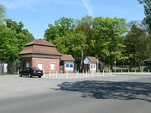 Deutsches Stadion (Berlin) - Ticket booths on Jesse-Owens-Allee