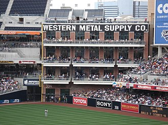 Adaptive reuse - The Western Metal Building as seen during a game.