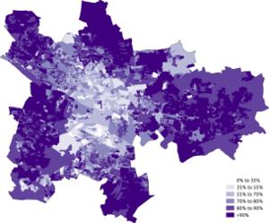 Demography of Glasgow - Image: White Scottish Glasgow 2011 census