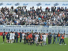 Zawodnicy Vancouver Whitecaps FC i Sporting Kansas City.