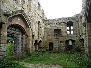 Whorlton Castle - Image: Whorlton Castle gatehouse interior