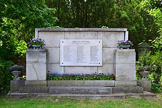 Resistance in German-occupied Czechoslovakia - Memorial at the Wiener Zentralfriedhof in Vienna