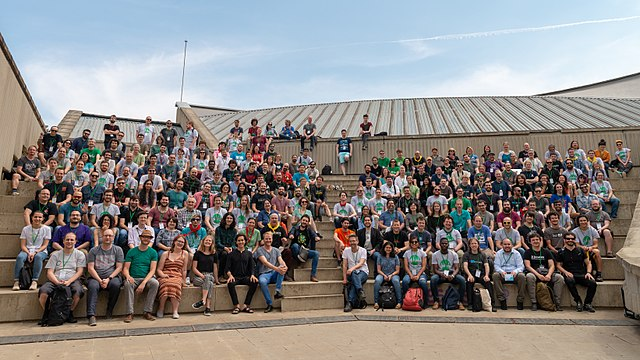 Group photo at Wikimedia Hackathon 2018 in Barcelona, Spain.