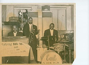 Ed Wiley Jr. - Wiley with drummer Earl Omaro and organist Bill Miller, Baltimore, 1957.