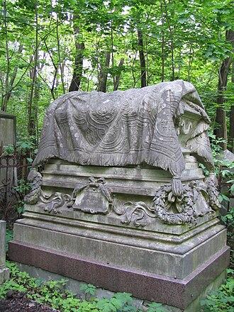Jewish Cemetery, Warsaw - Monumental grave of Wilhelm and Ewa Landau