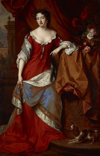 Anne, Queen of Great Britain - Anne, circa 1684, painted by Willem Wissing and Jan van der Vaardt
