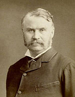 1880s photograph of W. S. Gilbert