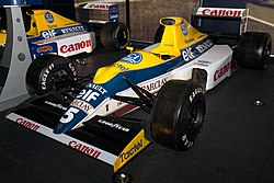 Williams FW13 front-left 2017 Williams Conference Centre.jpg