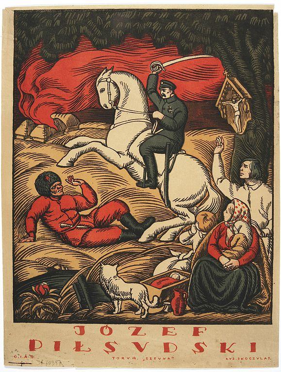 Jozef Pilsudski salva Polonia dell' Armia Rossa - Władysław Skoczylas