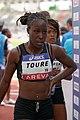 Women 100 m hurdles French Athletics Championships 2013 t145510.jpg