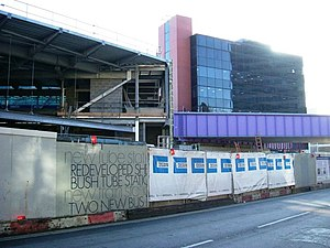 Wood Lane tube station - The station under construction, 2008
