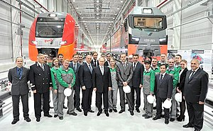 Workers of Ural Locomotives with Vladimir Putin.jpeg