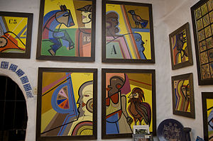 Carlos Páez Vilaró - A number of recent paintings by the artist, on display at Casapueblo.