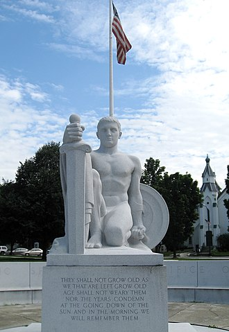 "Barre (city), Vermont - The Barre World War 1 Memorial, ""Youth Triumphant"", by sculptor C. Paul Jennewein"