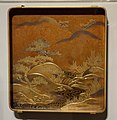Writing box and brush with mountain landscape scene (view 2), Japan, Edo period, 19th century, gold lacquerware - Cincinnati Art Museum - DSC03169.JPG