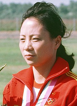 Wu Xiauxuan, 1984 Summer Olympics (cropped).JPEG