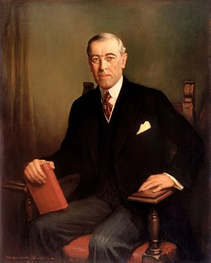 Idealism in international relations - Official White House portrait of Woodrow Wilson