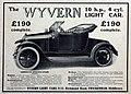 Wyvern Light Car advert in Cyclecar 1913.jpg