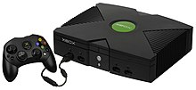The Xbox console with a Controller S