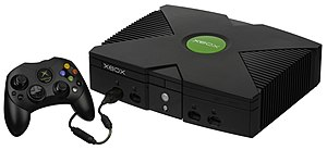 "Sixth generation of video game consoles - Xbox console with ""Controller S"""