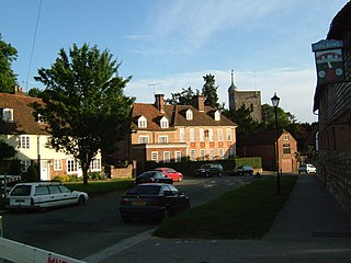 Yalding village in the United Kingdom