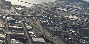 Interstate 91 - Beginning of I-91 in New Haven, CT