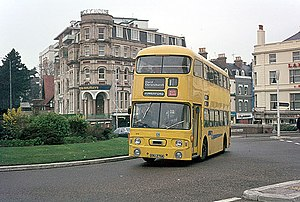 Yellow Buses - Alexander bodied Leyland Atlantean in March 1976