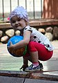 Young Girl with Ball - Brest - Belarus (27402239416).jpg