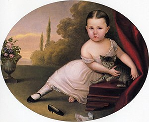 Nicola Marschall - Image: Young Girl with Cat 1867