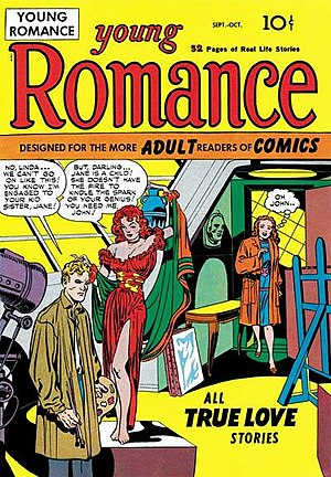 Romance comics - Image: Young Romance Issue 1