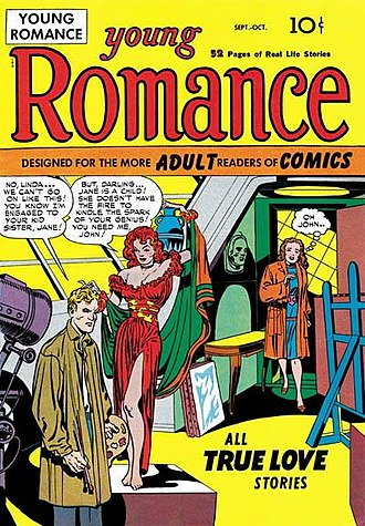 Jack Kirby - Image: Young Romance Issue 1