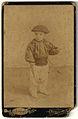 Young boy with pelota racket, Barcelona, Spain ca 1900 (7317029596).jpg