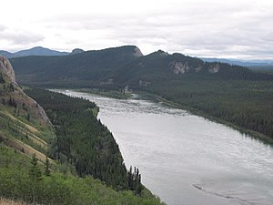 Sternwheeler Columbian disaster - Site of the disaster on the Yukon River