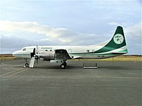 Air Chathams Convair 580 am Tuuta Airport, Chatham Islands im September 2003