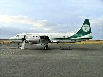 Air Chathams - Air Chathams Convair 580 at Tuuta Airport, Chatham Islands in September 2003