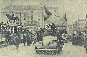 Zagreb in World War II - A group of Ustaše in Zagreb on 10 April 1941