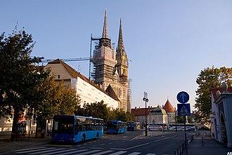 Kaptol, Zagreb - Image: Zagreb cathedral in Kaptol