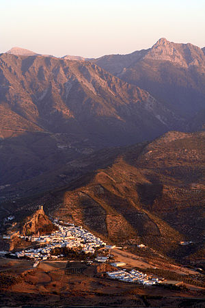 White Towns of Andalusia - Zahara de la Sierra by sunset