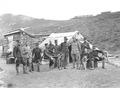 Zelt des Bataillonskommandos mit dem Kommandanten Major Couchepin - CH-BAR - 3239853.tif