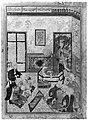 """Bahram Gur and the Indian Princess in the Dark Palace on Saturday"", Folio 23v from a Haft Paikar (Seven Portraits) of the Khamsa (Quintet) of Nizami MET 43298.jpg"