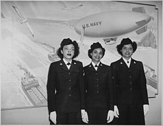 Three African-American women in WAVES uniform