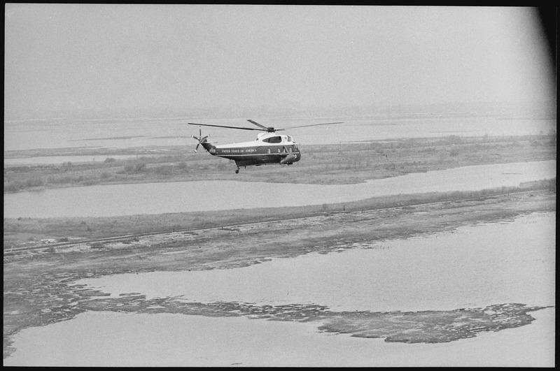 "File:""Marine One"" in flight - NARA - 194719.tif"