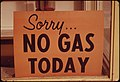 """No Gas"" Signs Were a Common Sight in Oregon During the Fall of 1973, Such as at This Station in Lincoln City Along the Coast. Many Stations Closed Earlier, Opened Later and Shut Down on the Weekends 10-1973 (4271720183).jpg"